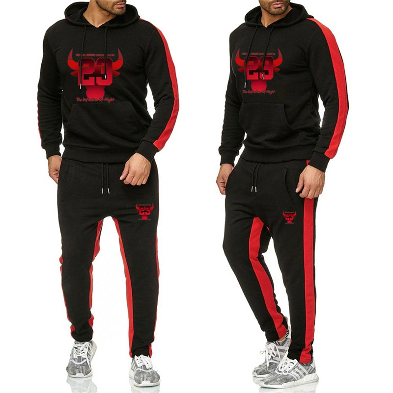 Men's Fashion Tracksuit Casual Sportsuit Men Hoodies/Sweatshirts Sportswear JORDAN 23 Coat Pant Tracksuit Men Set Brand Clothing