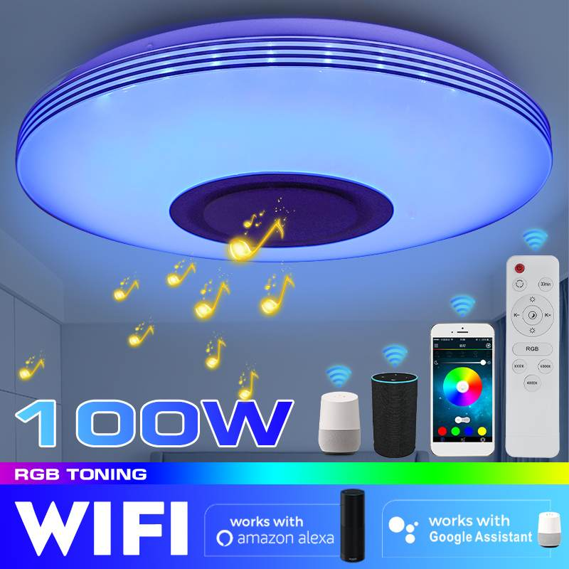 100W WiFi APP Intelligent Control Modern RGB LED Ceiling Light Home Lighting bluetooth Music Light Bedroom Smart Ceiling Lamp
