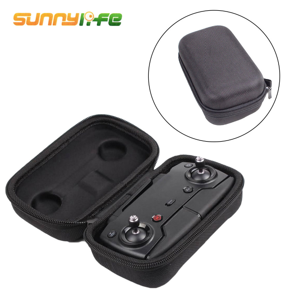 SUNNYLIFE Portable Travel Hard EVA Remote Controller Protection Storage Box Carry Bag Case For DJI Mavic Air Accessories Black