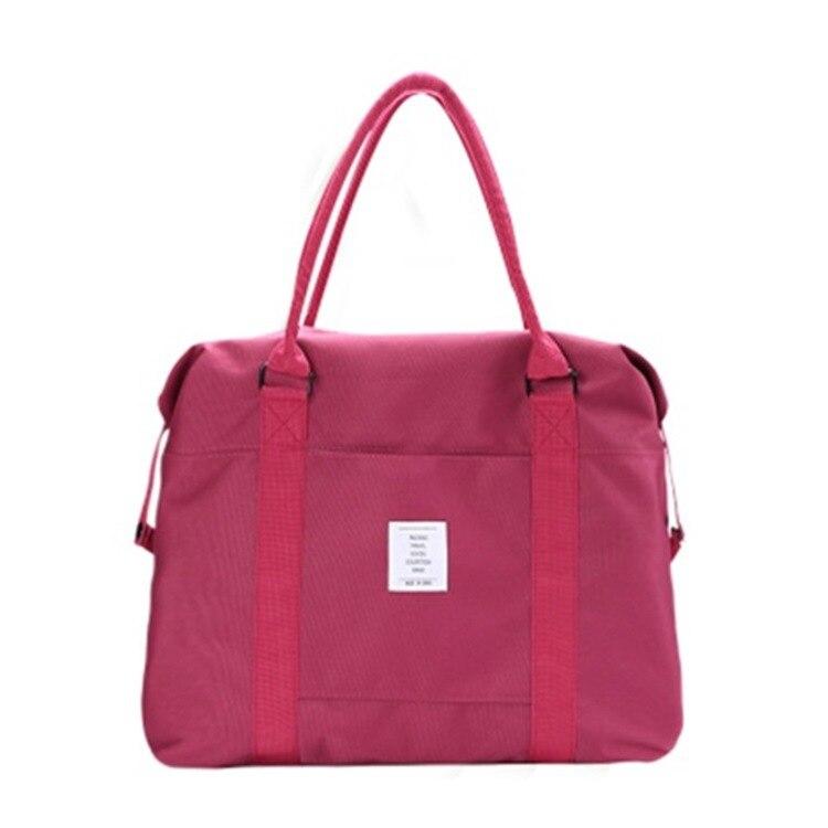 Short Travel Bag Women's Hand Luggage Large-capacity Travel Bag Waterproof One-shoulder Bag Fitness Bag  Weekend Bag