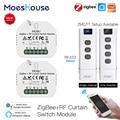 MoesHouse RF433 ZigBee Smart Vorhang Schalter Modul für Motorisierte Rollladen Jalousien Motor 2MQTT Tuya Smart APP Alexa Google