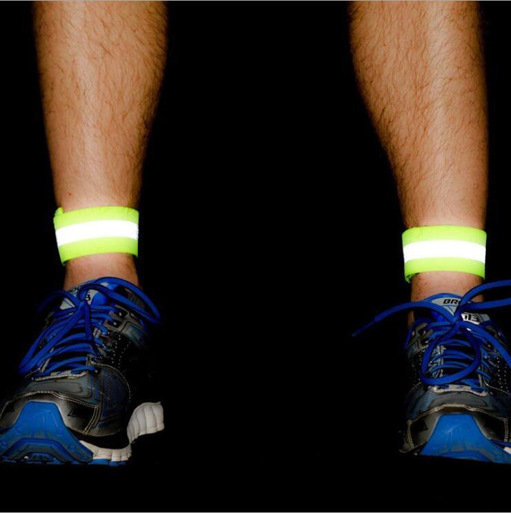 1Pcs Elastic Night Reflective Wristband Sport Safety Reflector Jogging Walking