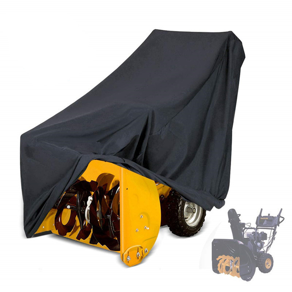 Outdoor Snow Thrower Cover Heavy Duty Waterproof UV Protection Universal Snow Blower Covers For Most Electric Snow Blowers