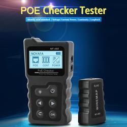 NF-488 cyfrowy Ethernet CAT5 CAT6 LAN kabel sieciowy przełącznik PoE Tester detektor wyświetlacz LCD Tester kabli sieciowych narzędzia sieciowe
