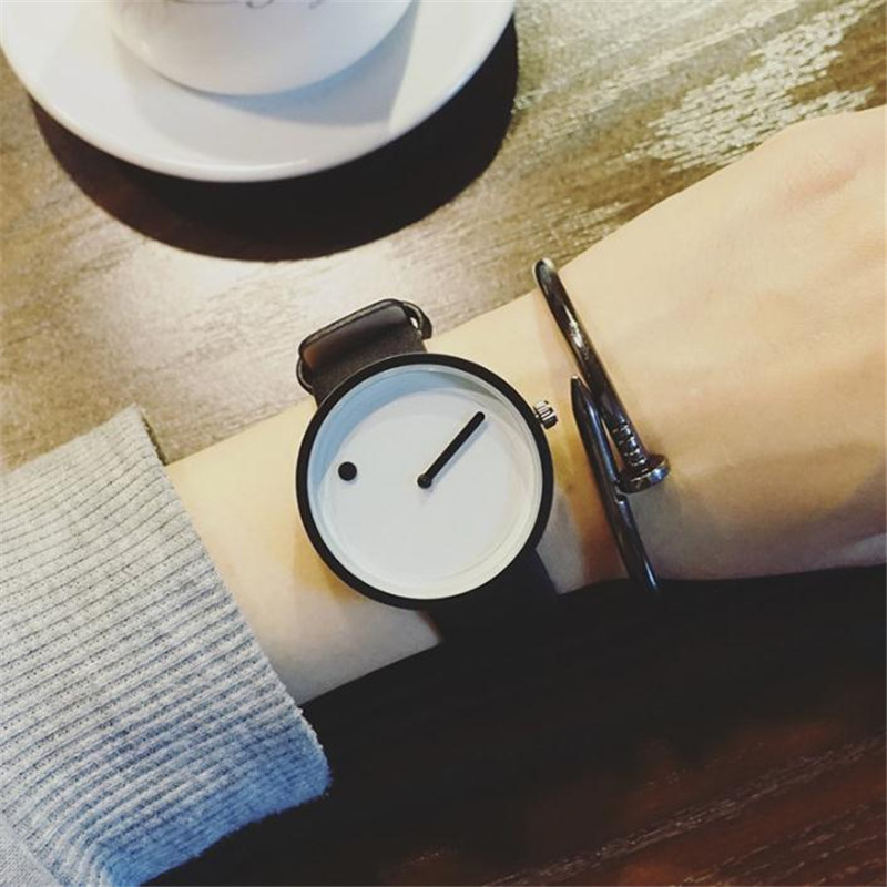 Man Woman Watch 2019 Minimalist Style Creative New Design Point And Line Simple Elegant Watches Female Clock Relojes Para Hombre
