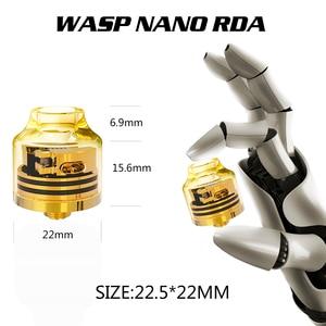 Image 4 - Veeape OUMIER WASP NANO RDA vape tank Big Deck Rebuildable Tank 22mm Adjustable Airflow Bottom Airflow NANO RDA Resin VS Wotofo