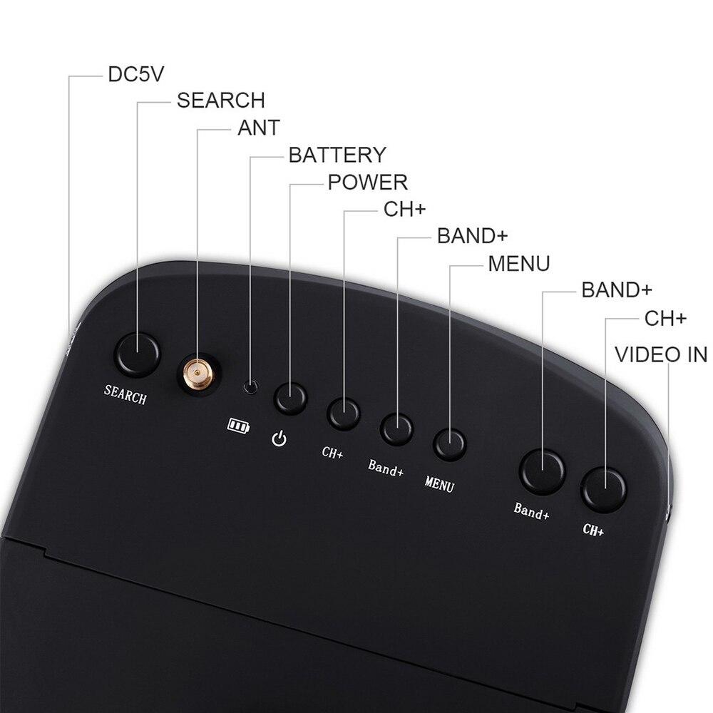 3D Occhiali Fpv Occhiali Giocattolo di Controllo Remoto Accessori Video Auricolare Hd Dvr Diversità Fpv con Batteria per Rc Drone parti - 5