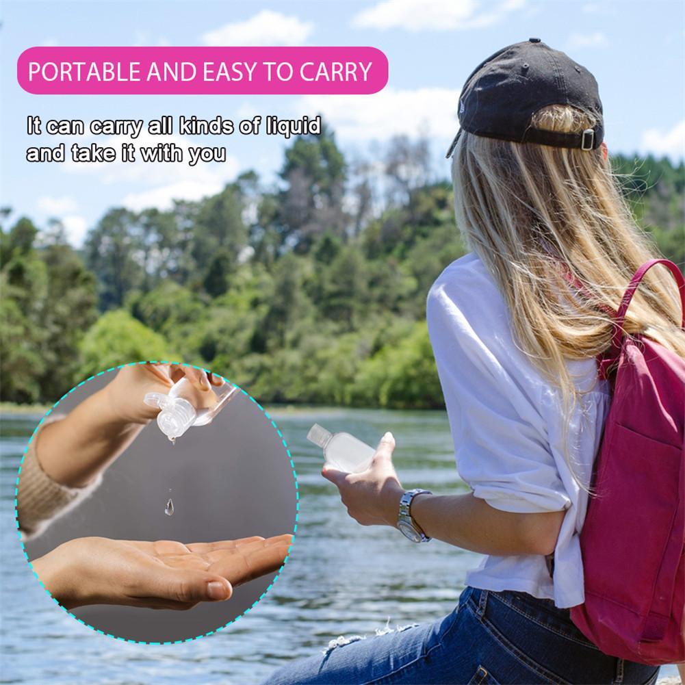 Portable Neck Hanging Hand Soap Dispenser Shampoo Sanitizer Alcohol Containers Travel Refillable Bottles Filling Bottle 30/50ml