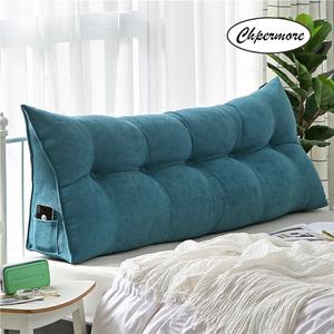 Image 4 - Chpermore High grade Luxury Simple bed cushion double sofa Tatami Bed soft bag Removable Bed pillow For Sleeping