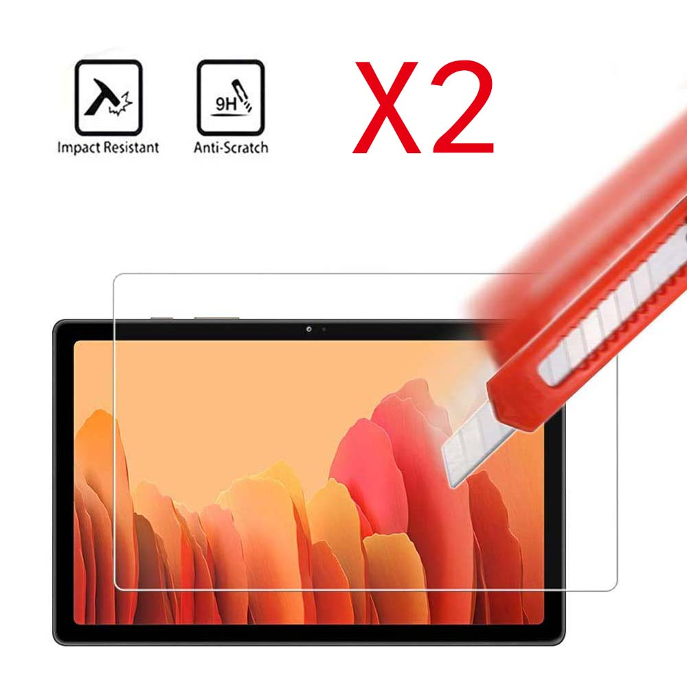 2Pcs Tablet Tempered Glass Screen Protector Cover for Samsung Galaxy Tab A7 2020 T500/T505 10.4Inch Full Coverage Screen