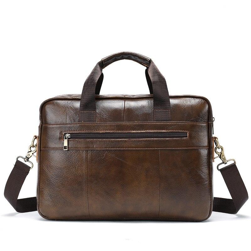 Мужской портфель, мужская сумка из натуральной кожи, сумка для ноутбука, деловая сумка для документов, Мужская офисная Портативная сумка