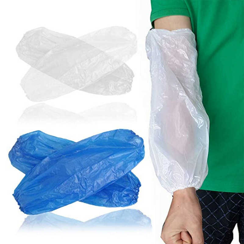 Details about  /100X PROTECTIVE WATERPROOF DISPOSABLE PLASTIC ARM SLEEVES COVERS OVERSLEEVES