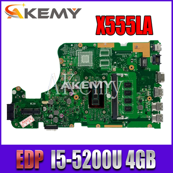 X555LA Motherboard For Asus X555LP X555LD X555LJ X555LB X555LF laptop Motherboard X555LAB Mainboard test 100% OK I5-5200U 4G-RAM t100taf motherboard for asus t100taf tablet mainboard t100taf motherboard test 100% ok z3735f cpu 64gb ssd