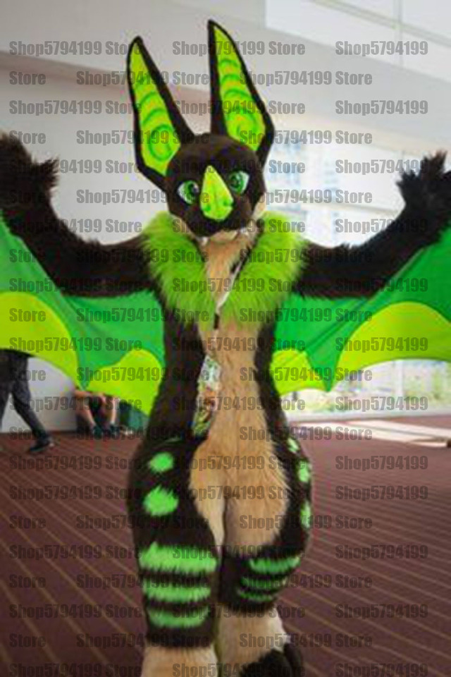 Best Quality On Green Husky Dog Wolf Furry Fursuit Suit Mascot Costume Cosplay Animal Party Fancy Dress Carnival Birthday Gift Mascot Aliexpress