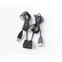 Biurlink 150 см автомобильный двойной USB адаптер Авто Удлинительный USB зарядка аудио адаптер для Toyota Honda для iPhone Android смартфон