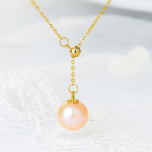Sa silverage 18k gold freshwater orange purple pearl adjustable