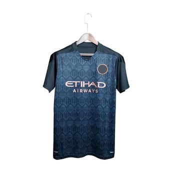 2021 Manchester City Jersey wysokiej jakości tajska koszula męska tanie i dobre opinie CN (pochodzenie) COTTON Daily KOSZULE CODZIENNE krótkie Na co dzień Cztery pory roku BEZ KOŁNIERZA NONE REGULAR Batik