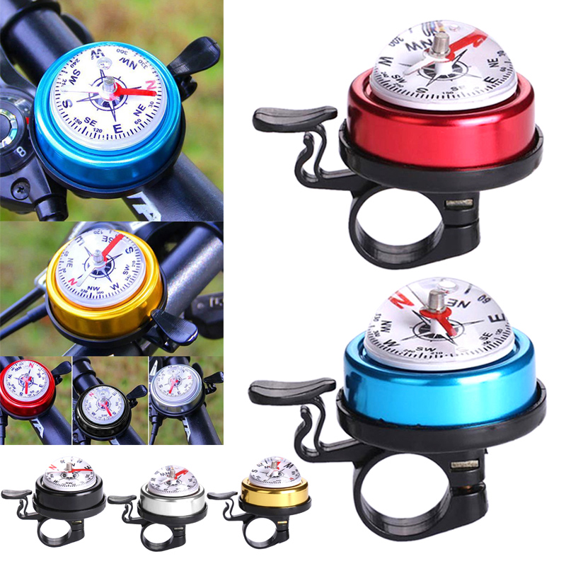 Bike Bicycle Invisible Bell Aluminum Loud Sound Compass Handlebar Safety Horn-wu
