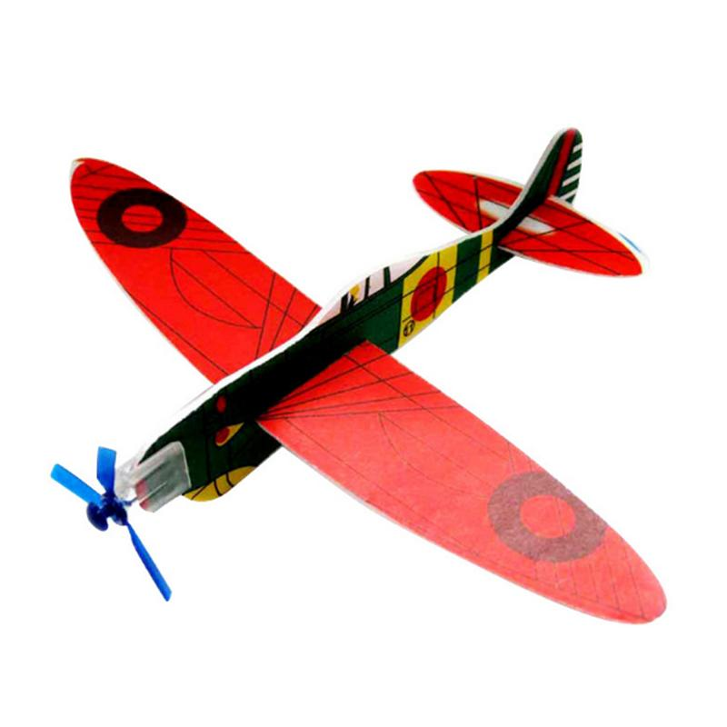 DIY головоломка маленький материал пены игрушка Сборная модель ручного метания скольжение маленький самолет детские игрушки на открытом во...