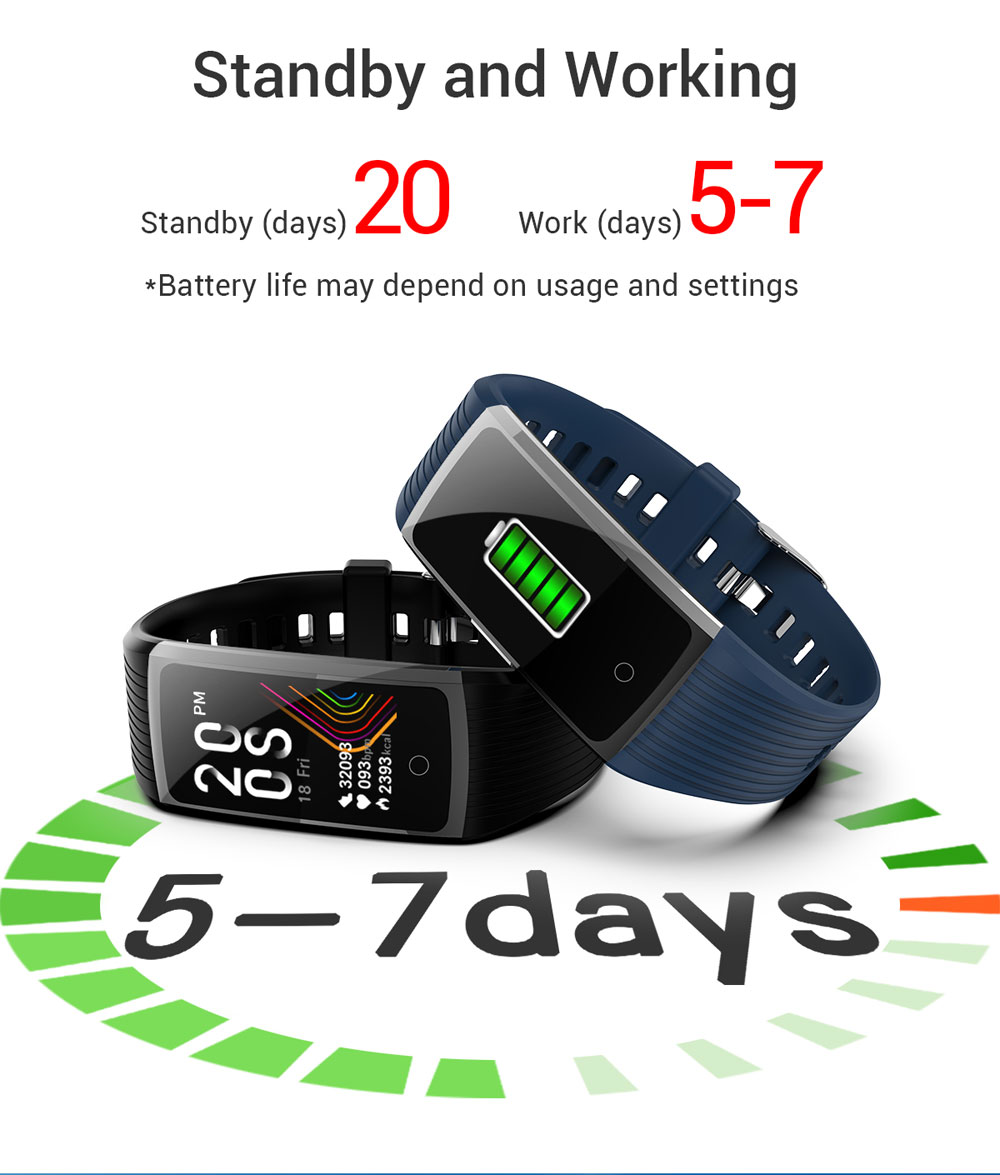 H8d4ca312b40f4cff804e5336db2382b85 2020 Fitness Bracelet Blood Pressure Fitness Tracker Waterproof Smart Bracelet Heart Rate Smart Band Watch Wristband Men Women