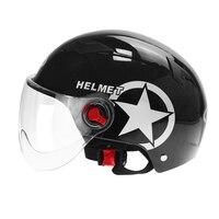 Capacete da motocicleta scooter bicicleta aberta rosto metade boné de beisebol anti uv capacete de segurança capacete de motocross com cor transparente|Capacetes|Automóveis e motos -