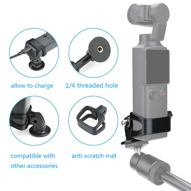Multifunctional Extended Adapter Bracket Support Kits with 1/4 Threaded Hole for FIMI PALM Handheld Sport Camera Accessories