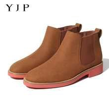 Mens Boots Walking-Shoes Wear-Resistant Suede Outdoor Winter Warm YJP Ankle
