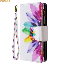 Zipper Cartoon Wallet for Xiaomi Note 10 CC9 Pro 10T Lite Case Leather Flip for Mi POCO M3 X3 NFC Card Slots Stand Cover Strap