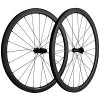 Super Light Road Bike Carbon Wheels 40mm Depth UD Matte Disc Brake Without Braking Surface Clincher CX6 hub Carbon Bike Wheelset