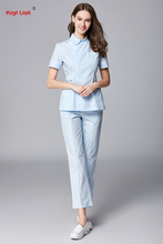 цена на RY-Hospital Nurse's suit beautician overalls pet hospital dentist uniforms Clinic Nurse Workwear Lab Clothing White Lab Medical