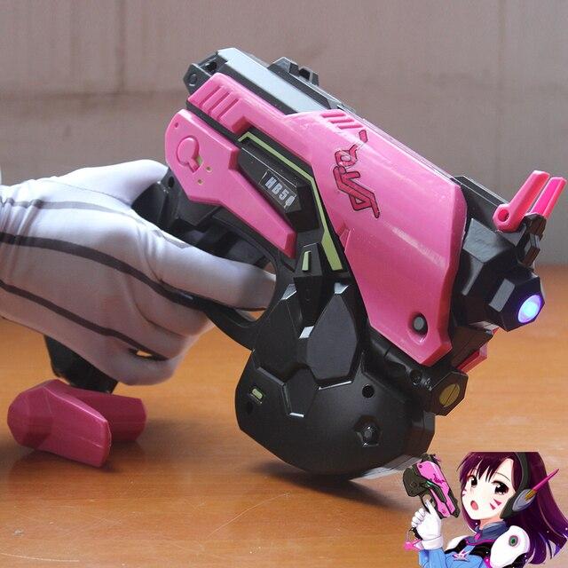 Overwatch D.Va Gun Headphone for Cosplay Weapon Hana Song D VA Prop Pistol Headset Accessories for Halloween Christmas Gift DVA 1