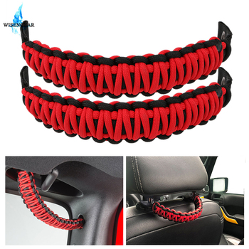 For Jeep Wrangler JK TJ Car Grab Door Handle Bar Grip Bar Armrest Pulling Strip Headrest Rear Seat Back Handle For Toyota FJ image