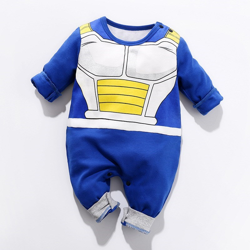 Dragon Ball Vegeta Costume 0-24 Months <font><b>Baby</b></font> <font><b>Boy</b></font> <font><b>Clothes</b></font> Newborn Rompers Cotton Infant Jumpsuits Bebes Cartoon <font><b>New</b></font> <font><b>Born</b></font> Clothing image