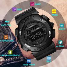 Luxe hommes montres Led numérique 30m étanche décontracté affaires Sport montre-bracelet Date Sport hommes en plein air montre électronique Relogio