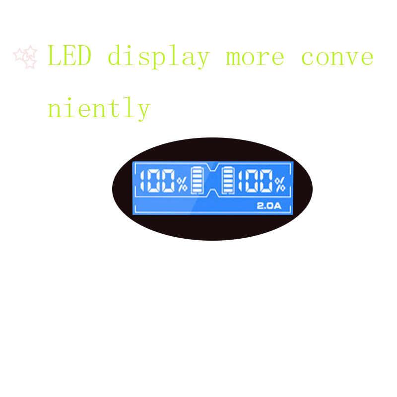 Mjkaa 2 SLOT จอแสดงผล LED แบตเตอรี่ Charger การสนับสนุน AA/AAA Ni-MH/Ni-Cd ได้อย่างรวดเร็ว USB Plug