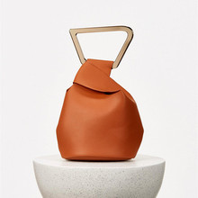 Women Solid Bucket Fashion Acrylic Handle Ladies Hand Bags for Woman Luxury