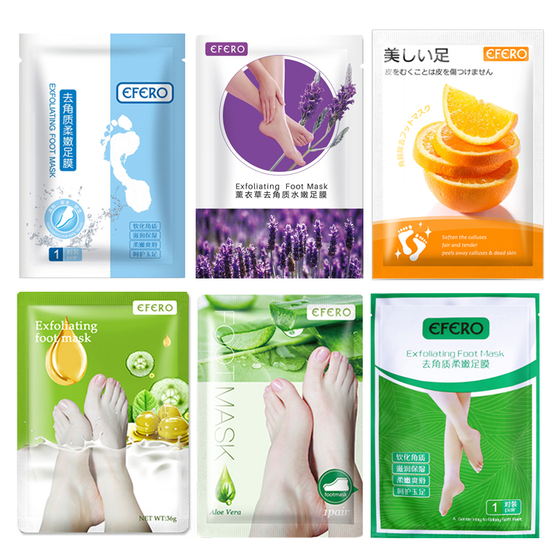 6Pack Foot Peeling Mask Nourishing Moisturizer Anti Cracked Heel Exfoliating Mask for Feet Care Dead Skin Remover Foot Socks