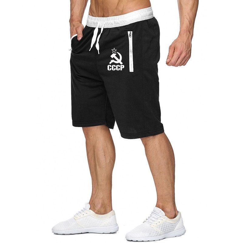 2019 New CCCP Russian USSR Soviet Union Print Men's Shorts Summer Fitness Mens Shorts Joggers Casual Male Shorts Homme