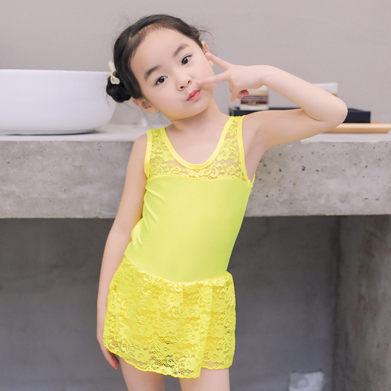 2019 Hot Selling Combination KID'S Swimwear Big Boy Backless One-piece Women's Cute Europe And America Hot Springs Bathing Suit