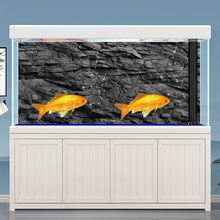 Poster Background Aquarium-Decorations Rock-Stone Fish-Tank Black 5size 3d-Effect Self-Adhesive