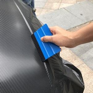 Image 2 - Película de vinilo para coche, 1 unidad, herramientas de envoltura, rasqueta y escobilla azul con borde de fieltro, tamaño 10cm * 7cm, pegatinas de diseño de coche, accesorios