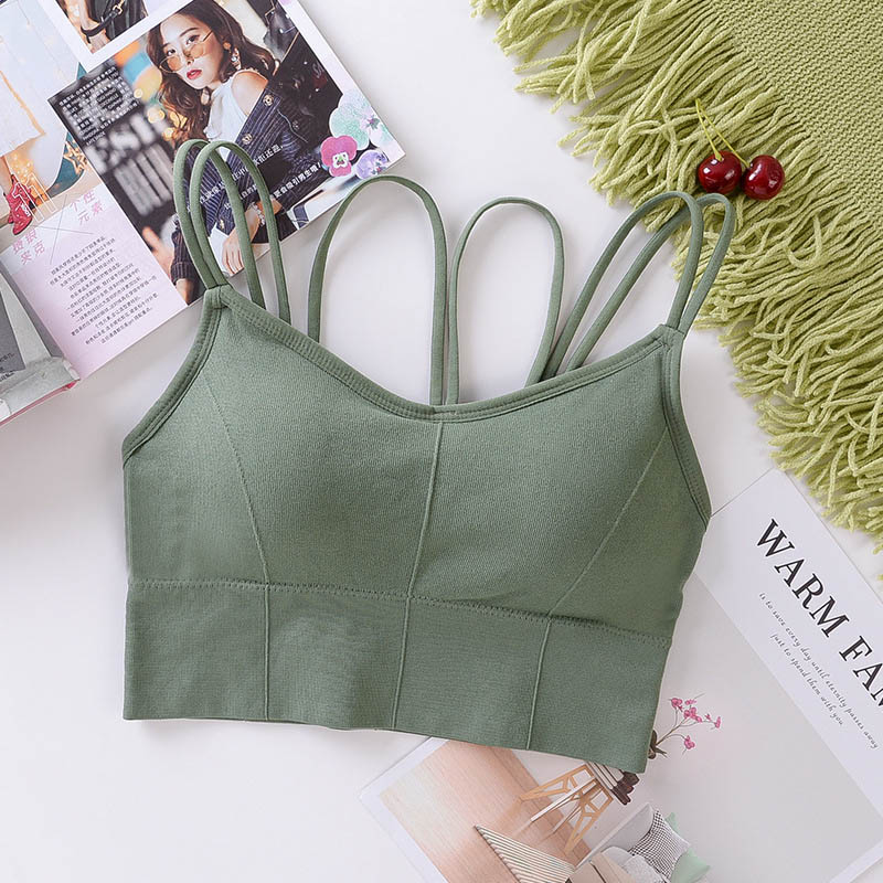 Ladies Bottom Tube Top Seamless Bras Wrap Chest Crossed Back Bra Women Tube Tops