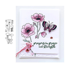 JC Metal Cutting Dies and Rubber Stamps Scrapbooking Thank Flower Letters Craft Die Cut Stencil Card Make Album Sheet Decoration jc rubber stamps and metal cutting dies scrapbooking craft house pet dog s home stencil for card making album sheet decoration