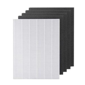 Image 3 - 4 stück Luftreiniger Teile Carbon pre filter und 1 stück Wichtigsten HEPA filter für Winix 115115 5300 5500 6300
