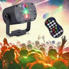 USB Laser projecteur scène lumières effet lampe avec télécommande Festival vacances mariage fête d'anniversaire DJ Disco lumière