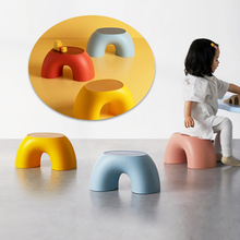 1pcs Anti-slip Low Stool Children's Stools Durable Slippery Shoes Wearing Stool Comfortable Stool For Home Bathroom Office