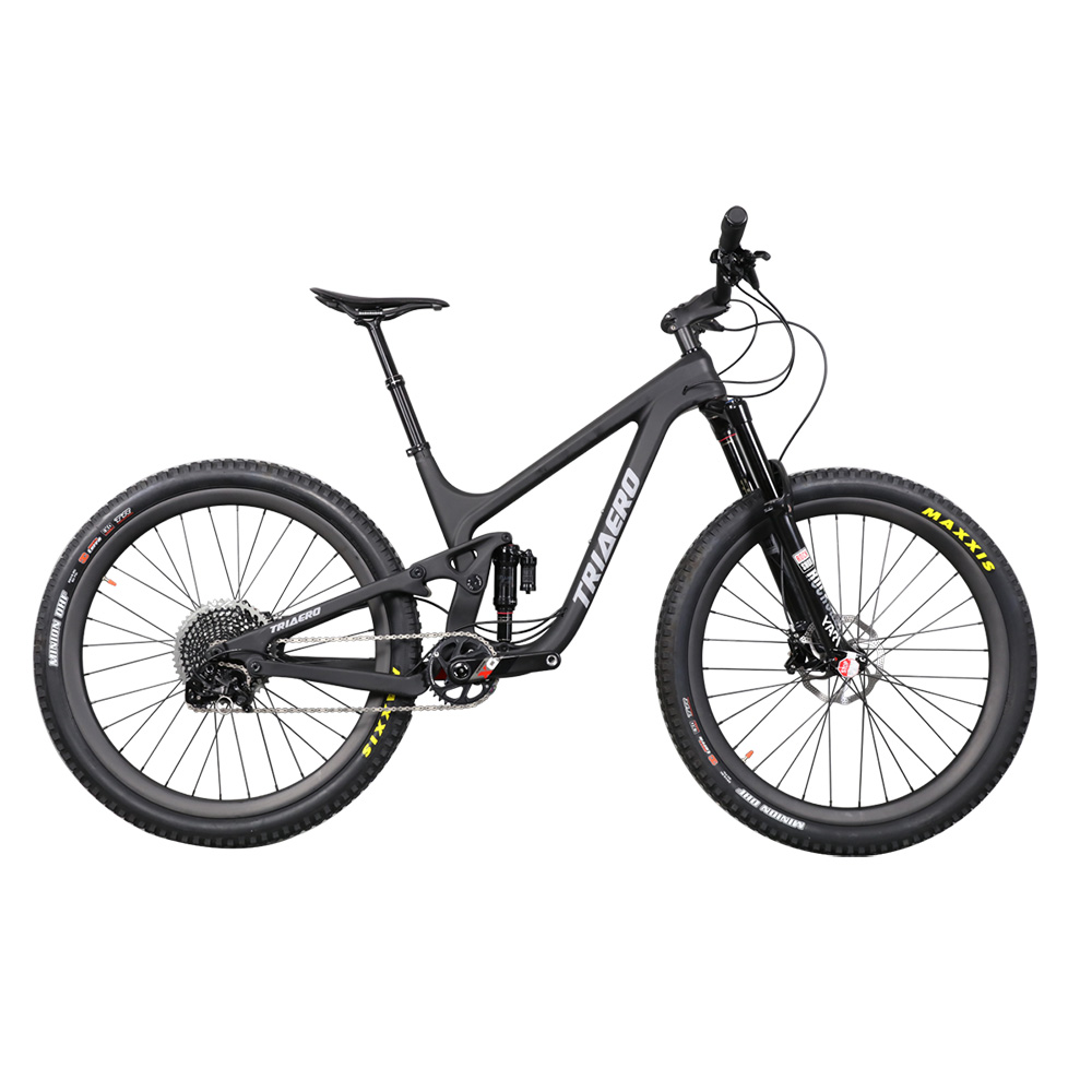 ICAN Newest 27.5er Carbon Mountain Bike Full Suspension 150mm Travel Enduro Mtb Bicycle Suit 148*12mm Axle