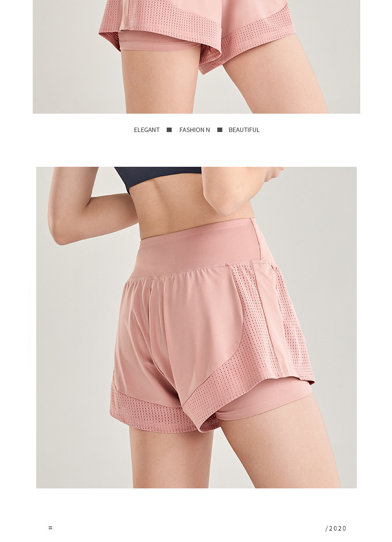 Shorts Women Workout Shorts High Waisted Running Shorts Double Layer Quick-drying Athletic Yoga Shorts Fitness Shorts (12)