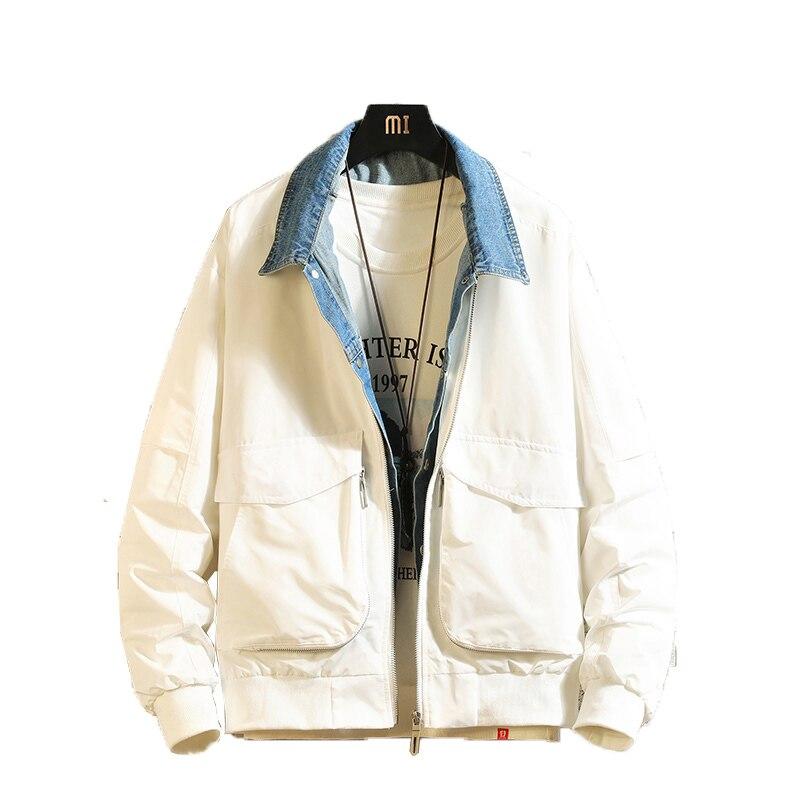 Клетчатая уличная зимняя куртка цвета хаки для мужчин 2019 теплая уличная однотонная Повседневная куртка корейский стиль модное мужское пал... - 6