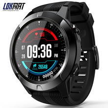 """LOKMAT SMA TK04 สมาร์ทนาฬิกาโทรศัพท์ 1.3 """"หน้าจอ BT3.0 + 4.0 Pedometer อัตราการเต้นของหัวใจ REMOTE กล้อง GPS กีฬา Smartwatch ผู้ชายผู้หญิง"""